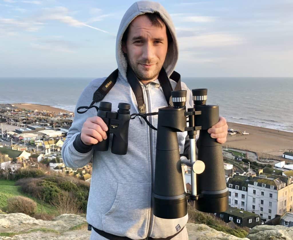 celestron skymaster 25x100 binoculars vs nikon prostaff 7s 10x42